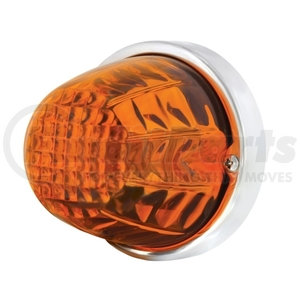 20719 by UNITED PACIFIC - Crystal Large Glass Marker Light - Dark Amber