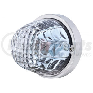 20720 by UNITED PACIFIC - Crystal Large Glass Marker Light - Clear