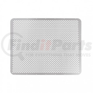 21152 by UNITED PACIFIC - Peterbilt 379 Short Hood Stainless Grille - Alternating Oval Holes