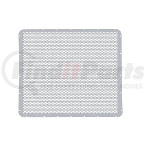 21153 by UNITED PACIFIC - Peterbilt 379 Extended Hood Stainless Grille - Alternating Round Holes