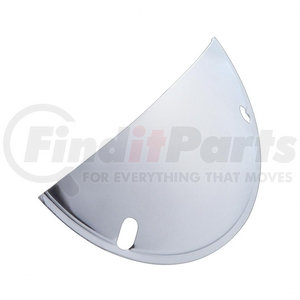 """21477 by UNITED PACIFIC - Stainless Steel Half Moon Headlight Shield For 5 3/4"""" Headlight"""