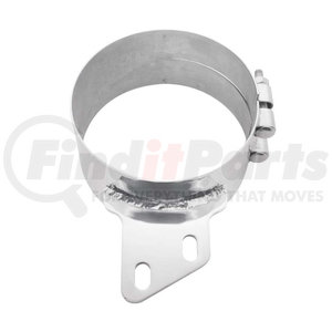"""10283 by UNITED PACIFIC - 6"""" Stainless Butt Joint Exhaust Clamp - Angled Bracket"""