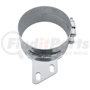 """10284 by UNITED PACIFIC - 7"""" Stainless Butt Joint Exhaust Clamp - Angled Bracket"""