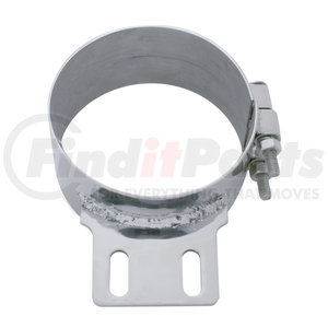 """10320 by UNITED PACIFIC - 6"""" Stainless Butt Joint Exhaust Clamp - Straight Bracket"""