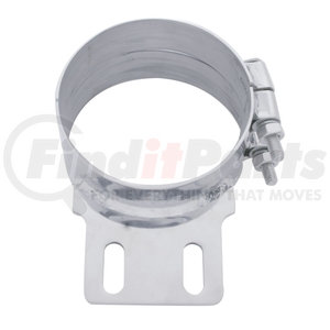 """10319 by UNITED PACIFIC - 5"""" Stainless Butt Joint ExhaustClamp - Straight Bracket"""