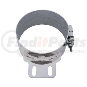 """10321 by UNITED PACIFIC - 7"""" Stainless Butt Joint ExhaustClamp - Straight Bracket"""