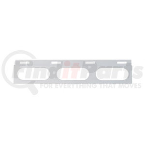 10657 by UNITED PACIFIC - Stainless Top Mud Flap Bracket - 3 Oval Light Cutout