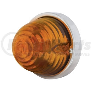 20468 by UNITED PACIFIC - Beehive Large Glass Marker Light - Amber