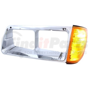 32336 by UNITED PACIFIC - 1989 - 2002 Freightliner FLD Headlight Bezel w/ Turn Signal - Driver