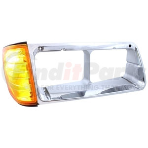 32337 by UNITED PACIFIC - 1989 - 2002 Freightliner FLD Headlight Bezel w/ Turn Signal - Passenger