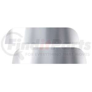 "29096 by UNITED PACIFIC - Stainless 7"" Chopped Window Trim For Peterbilt Trucks"