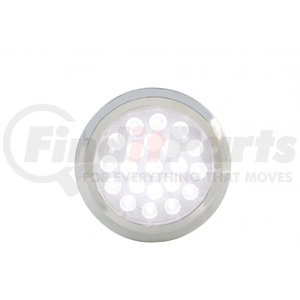 """37625B by UNITED PACIFIC - 21 High Power LED 6- 1/4"""" Dome Light w/ Bezel"""