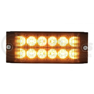 36691 by UNITED PACIFIC - 12 High Power LED Low Profile Warning Lighthead - Amber LED