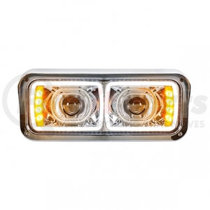 31154 by UNITED PACIFIC - High Power LED Projection Headlight with LED Turn Signal & 100% LED Position Light Bar - Driver