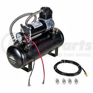 "46154 by UNITED PACIFIC - ""Competition Series"" Heavy Duty 12V 140 PSI Air Compressor & Tank Kit"