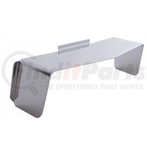 """10469 by UNITED PACIFIC - 6"""" X 4"""" Stainless Steel Rectangular Headlight Visor, Flat Top Style"""