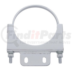 """10286 by UNITED PACIFIC - 5"""" Peterbilt Chrome Cab Exhaust Clamp"""