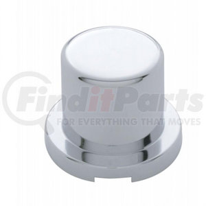 """10754 by UNITED PACIFIC - 11/16"""" x 15/16"""" Chrome Plastic Flat Top Nut Cover - Push-On (10 Pack)"""