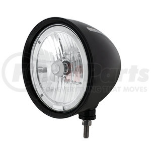 "32670 by UNITED PACIFIC - Black ""Billet"" Style Groove Headlight 9007 Bulb w/ White LED Halo Rim"