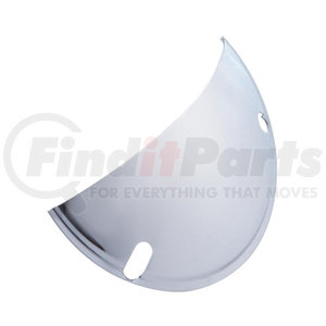 """21476 by UNITED PACIFIC - Stainless Steel Half Moon Headlight Shield For 7"""" Headlight"""