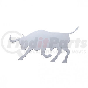 """10908 by UNITED PACIFIC - 12"""" x 7"""" Stainless Raging Bull Cutout - Facing Left"""