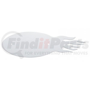 10940 by UNITED PACIFIC - Stainless Steel Flame Emblem Backing Plate