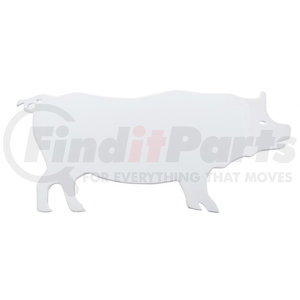 """10929 by UNITED PACIFIC - 6"""" x 13"""" Chrome Pig Cutout - Facing Left"""
