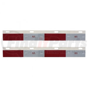 11137B by UNITED PACIFIC - Aluminum Straight Conspicuity Reflector Top Flap Plates