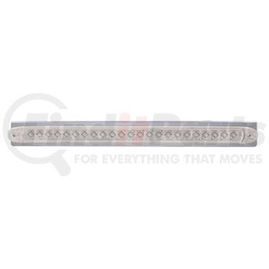 "20857 by UNITED PACIFIC - 17 5/16"" Stainless Light Bracket w/ 23 LED 17 1/4"" Light Bar - Amber LED/Clear Lens"