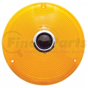 30282 by UNITED PACIFIC - Deep Dish Light Lens w/ Blue Dot - Amber Lens