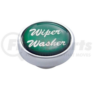 "23245 by UNITED PACIFIC - ""Wiper/Washer"" Dash Knob - Green Glossy Sticker"
