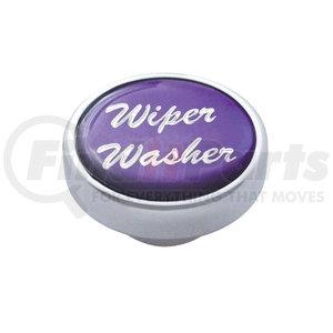 "23246 by UNITED PACIFIC - ""Wiper/Washer"" Dash Knob - Purple Glossy Sticker"