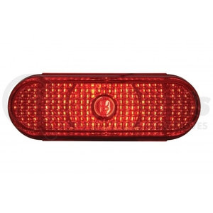 33539B by UNITED PACIFIC - Oval Crystal Stop, Turn & Tail Light - Red Lens