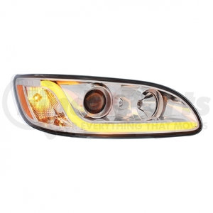 31253 by UNITED PACIFIC - Projection Headlight W/LED Dual Function Light Bar For Peterbilt 386/387 - Passenger