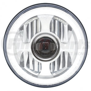 "31496 by UNITED PACIFIC - 7"" High Power LED Projection Headlight with Dual Function LED Halo Ring"
