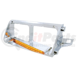 32362 by UNITED PACIFIC - 14 LED Freightliner FLD Headlight Bezel (Driver) - Amber LED/Amber Lens