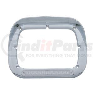 32371 by UNITED PACIFIC - 10 LED Single Headlight Bezel w/ Visor - Amber LED/Clear Lens