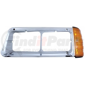 32542 by UNITED PACIFIC - 1990-2007 Freightliner FLD Headlight Bezel w/ Turn Signal - Driver