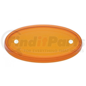 38878-3 by UNITED PACIFIC - Small Peterbilt Emblem Lens - Amber