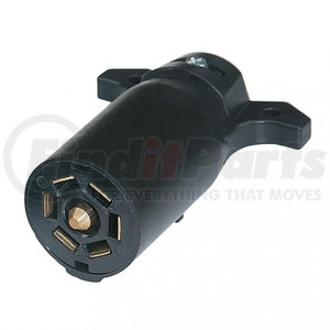 90502 by UNITED PACIFIC - Round 7-Way Female Connector - Flat Pin