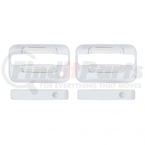 F150-0001 by UNITED PACIFIC - Ford F150 Chrome Door Handle Cover Set - 2 Door Standard