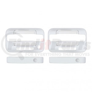 F150-0002 by UNITED PACIFIC - Ford F150 Chrome Door Handle Cover Set - 2 Door w/ Keyless Entry