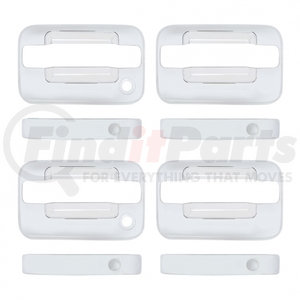 F150-0003 by UNITED PACIFIC - Ford F150 Chrome Door Handle Cover Set - 4 Door Standard Key