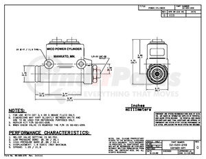 02-020-259 by MICO - MASTER CYLINDER (Please allow 7 days for handling. If you wish to expedite, please call us.)