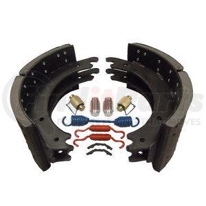 HDV1443E20P by HD VALUE - New Lined Brake Shoe Kit - Premium Mix - 20K Rated; 1443E