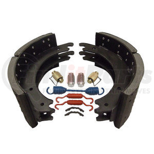 HDV1443E23P by HD VALUE - New Lined Brake Shoe Kit - Premium Mix - 23K Rated; 1443E