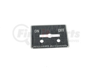 103642 by WILLIAMS CONTROLS - ESCUTCHEON PLAT