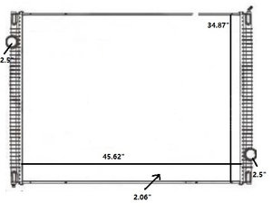 42-10533 by REACH COOLING - INTERNATIONAL WORKSTAR 08-10 Radiator