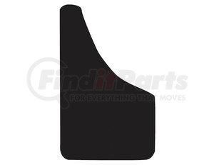 B1018PPB by BUYERS PRODUCTS - Thermo Flex Fender Guard Black Mudflaps 10x18 Inch