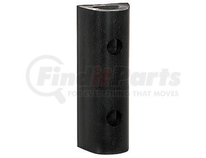 D46 by BUYERS PRODUCTS - Extruded Rubber D-Shaped Bumper with 2 Holes - 4 x 3-3/4 x 6 Inch Long